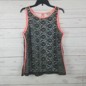 Banana Republic Black lace sleeveless top lined